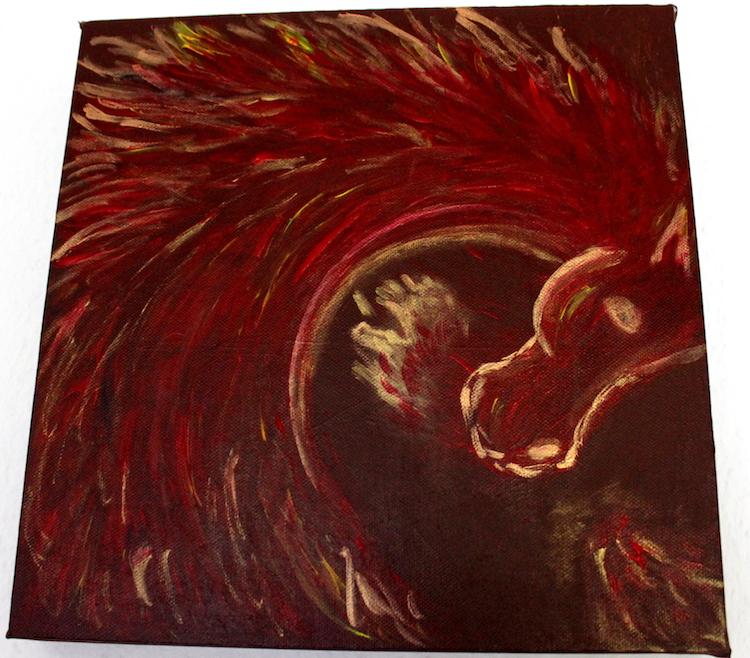 Krafttier Pferd Gemälde Acryl