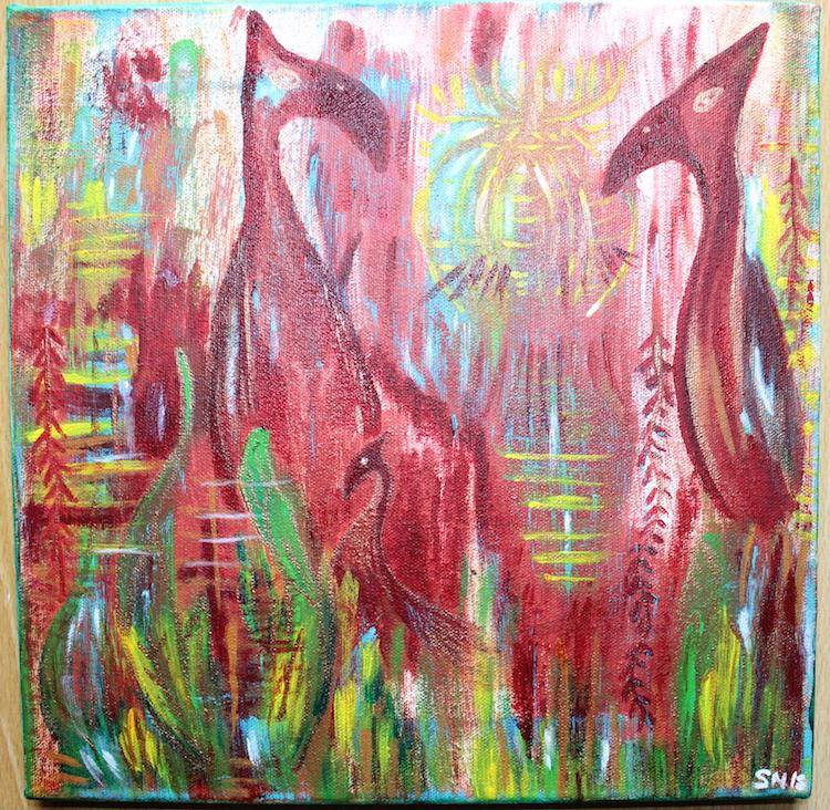 Krafttier Paradiesvogel