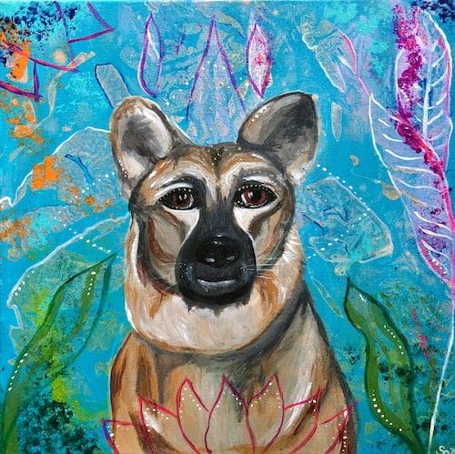 Hund malen lassen Portrait Leinwand