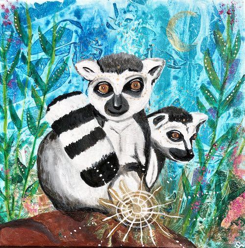Krafttier Lemuren Affe