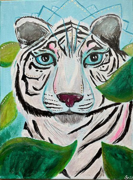 Krafttier weißer Tiger