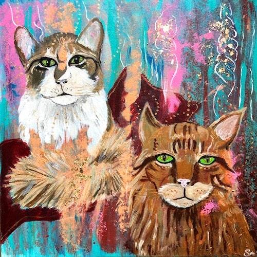 Katzenportrait malen lassen