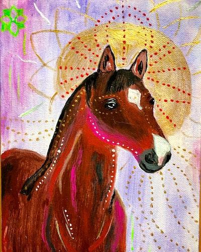 Pferd Portrait malen lassen