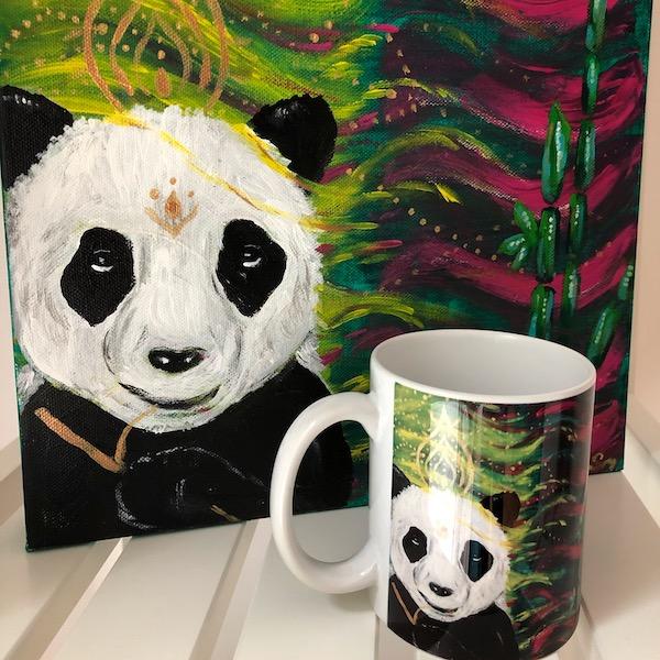 Krafttier Tasse Panda Krafttierbotschaft