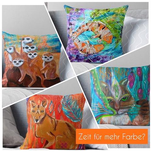 Krafttiere Kissen Krafttierbotschaft Sonja Neuroth